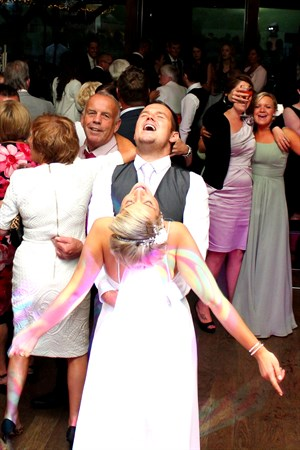 Wedding at Northover Manor Somerset, bespoke shows to suit the venue, your choice of music